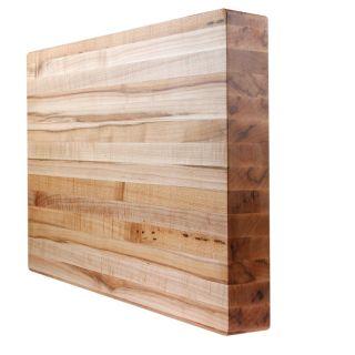 Kobi Edge Grain Wood Butcher Block Cutting Board 18 Sizes 2 Thick