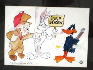 Daffy Duck Bugs Bunny Elmer Fudd Official Cartoon Art