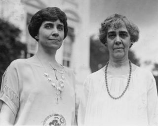 1924 Photo Mrs Calvin Coolidge and Mrs Charles Gates Dawes Half Length