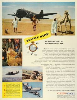 1945 Ad Curtiss Wright Aircraft C 46 Commando Transport Air Forces