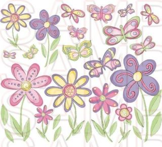Butterfly Butterflies Waterslide Decals Girls Room Decor