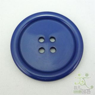 10 Pcs Dark Blue Buttons Lot Round Sewing 38mm Size 60