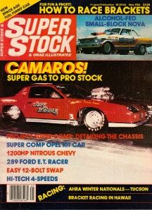 Super Stock May 1984 Camaros Project Super Comp Opel Kit Car How to
