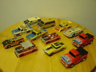 Lot of 12 Vintage Slot Cars AFX Aurora T Jet