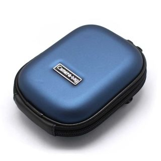 New Universal Digital Camera Hard Carry Case Pouch Blue