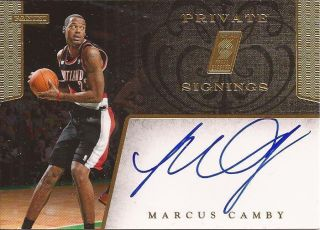 2011 12 Panini NBA Hoops MARCUS CAMBY Blazers 11 12 PRIVATE SIGNINGS