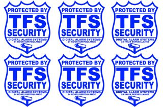Home Business Security Decal Stickers CCTV Camera Surveillance 6 PK