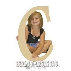 Unfinished Wooden Letter C 24 Big Paintable Cutout Craft Letters