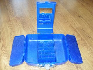 Caboodles Liquid Metallics Organizer Cosmetic Vanity Case Blue