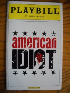 American Idiot Playbill John Gallagher Jr Color Cover