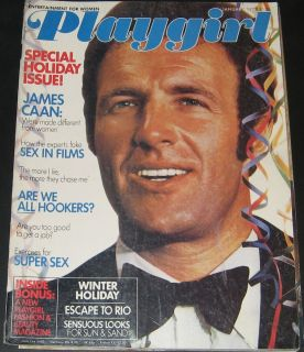 Playgirl Magazine January 1977 James Caan Tom Gagen centerfold