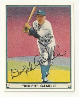 Dolph Camilli deceased signed 1941 Play Ball reprint card 51