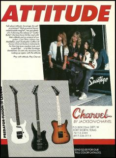 SAVATAGE CRISS OLIVA CHRISTOPHER CAFFERY CHARVEL JACKSON LEGEND