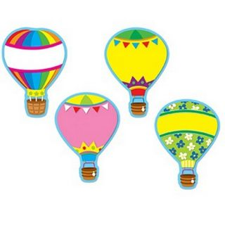 Carson Dellosa CD 120077 Hot Air Balloons Accents Die cut Shapes