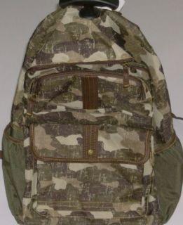Rolling Green Camo Backpack Camoflauge Luggage Travel B
