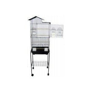 Parrot Bird Cage Cages 6893s Z Black with Stand