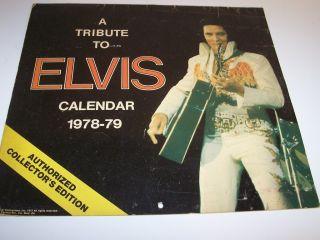 1978 79 ELVIS PRESLEY Tribute Calendar Collectors Edition Unused