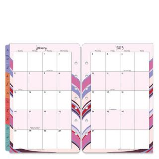 Classic Simplicity Two Page Monthly Calendar Tabs Jan 2013 Dec