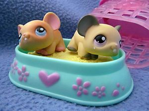 Mice with Cage Figurine Action Figure Cake Topper Toy Play Set
