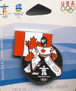Vancouver Olympics 2010 Canada Hockey Player Pin