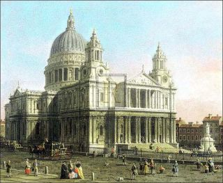 Antonio Canaletto St Pauls Cathedral London Print