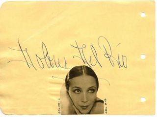 JAMES CAGNEY + DOLORES DEL RIO VINTAGE 40s ORIGINAL SIGNED ALBUM PAGE