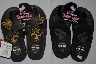 New Skechers Tone UPS Thrillers Womens Wedge Sandal 38737 Bronze