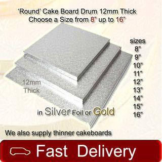 Cake Board Drum Silver Gold 8 9 10 1112 13 14 15 16 Cake