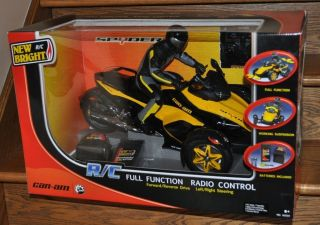 Bright Can Am Spyder Full Function RC Radio Remote Control Motorcycle