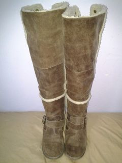 Womens Nine West Leather Upper Thigh High Boots Size 7