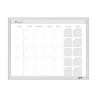 Expo 11 x 14 Magnetic Dry Erase Calendar Whiteboard