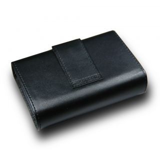 C30 Black Leather Camera Bag Case Nikon Coolpix S6100 S60