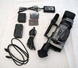 Sony Handycam DCR VX2100E Silver Mini DV PAL Video Camera WORKS SD