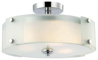 Canarm Ryker Collection Chrome Flush Mount 3 Bulb Ceiling Light