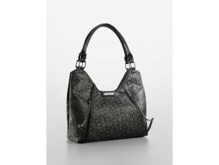 Calvin Klein Candace Metallic Scoop Hobo Bag Womens