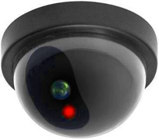 Dome Camera Dummy Fake Surveillance Flashing LED Light Home Business