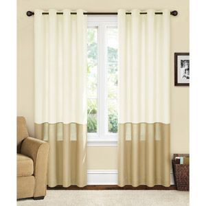Canopy lined color band drapery panel energy efficient curtain