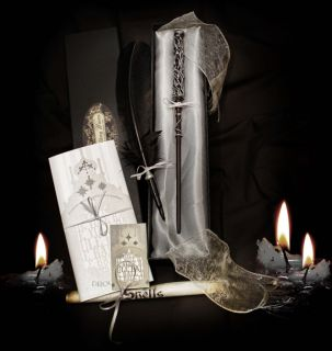 Harry Potter style magic wand HANDMADE with LUXURY BOX & Quill Pen