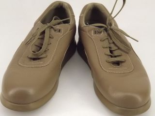 Womens shoes light brown leather Canfield 10 M orthopedic diabetic