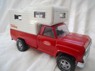 Vintage Tonka Pickup Truck & Cab Over Camper Shell Very Good Condition