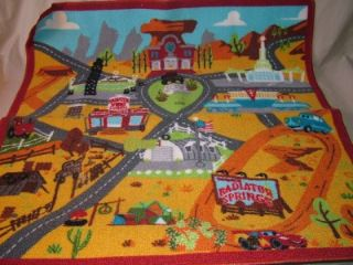LARGE KIDS CHILDREN DISNEY CARS PLAY TOWN MAT RUG W/BACKPACK