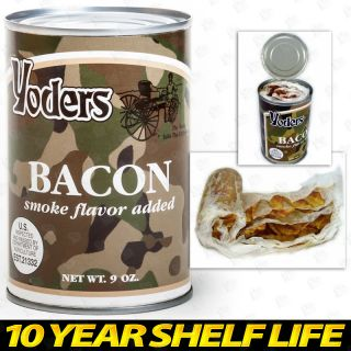 Canned Bacon Long Term Food Storage Camping Survival Two Can