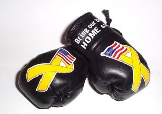 Support Our Troops Mini Boxing Gloves