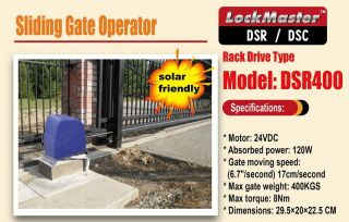 DSR400 Sliding Gate Opener Gate Operator Gate Motor AC DC Lockmaster