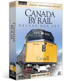 Canada by Rail Deluxe Box Set 4 DVD New CP Via Rogers Pass Canadian