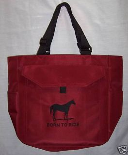 Quarter Horse Tote Bag Diaper Horse Rodeo Western Maroo