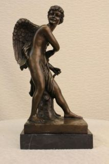 Cupid (Eros) by Canova Solid Bronze Collectible Sculpture Statue Fast