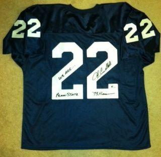 John Cappelletti Signed Penn State 22 Blue Jersey 1973 Heisman Trophy