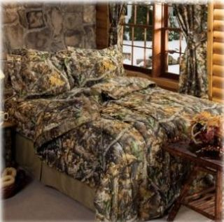 Realtree Timber Camouflage Complete Queen Bedding Set NIP