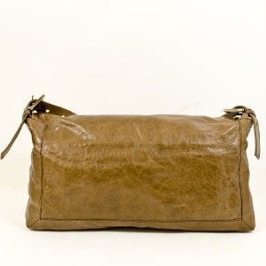 Fendi Brown Leather Capra Messenger Bag Maxi Baguette with Two Straps